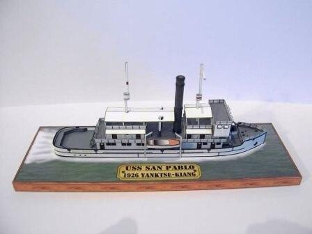 Modelo de papel de barco de pasajeros Sao Paulo con Base 3D, modelo de papel, barco civil, niños, adultos, juguetes educativos para niños