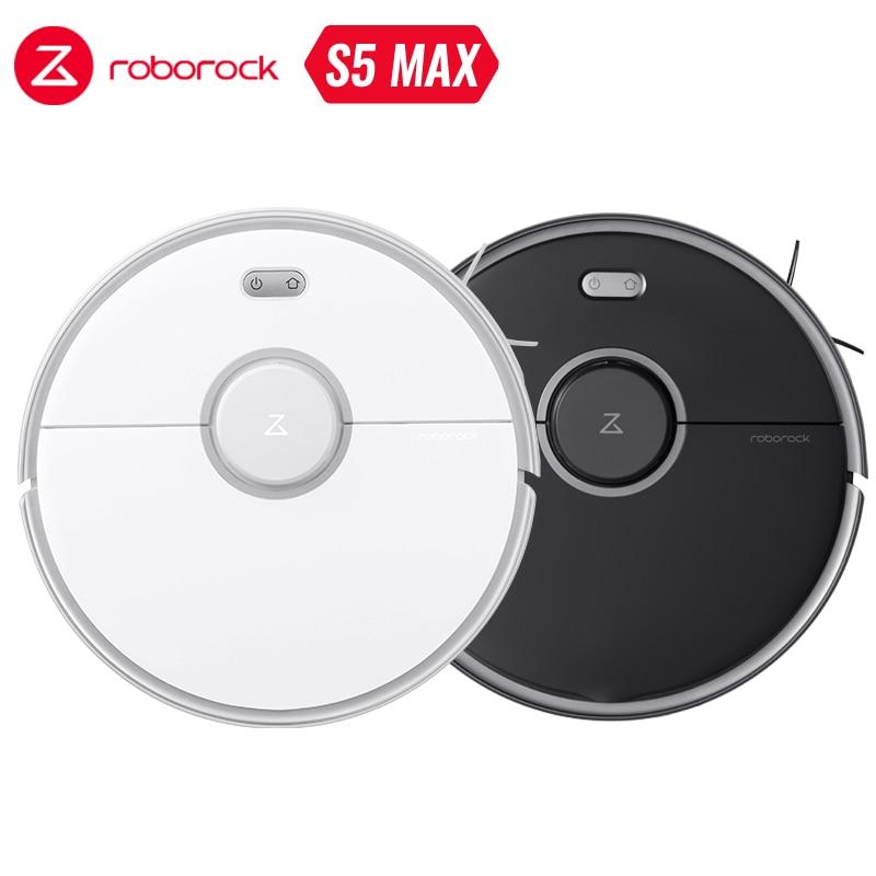 2020 Xiao mi Roborock S5 Max robotlu süpürge WIFI APP kontrol otomatik süpürme toz akıllı planlanan yıkama mop yükseltme