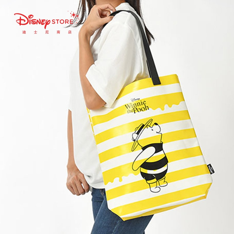 Оригинальная официальная мультяшная дамская сумочка большого объема с героями Диснея, пчелиным пухом, медведем, Женская дорожная сумка-Орг...