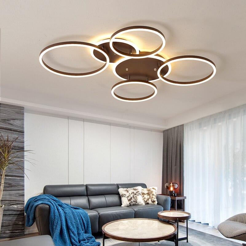 Luces de techo LED modernas para sala de estar dormitorio cocina balcón pasillo lámpara de techo de aluminio Simple accesorio de iluminación del hogar