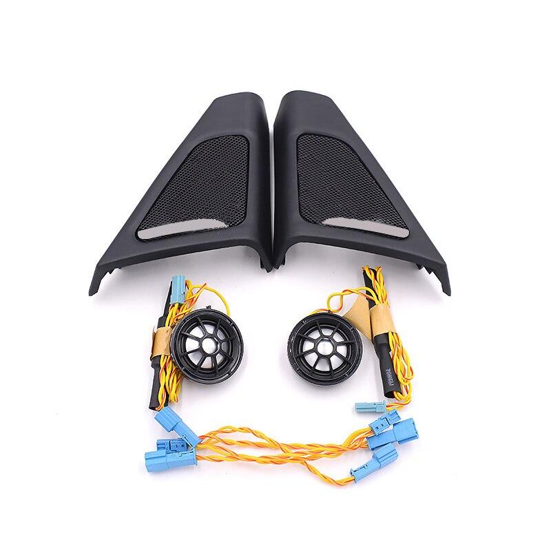 Haut-parleur de voiture pour bmw f10 f11 5 série haut-parleur voiture intérieur avant tweeter haut-parleur couverture haut-parleur fil abs matériel modèle dorigine