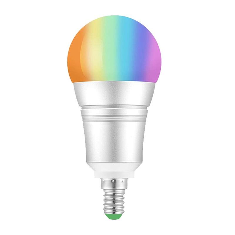 10W WiFi Smart Light Bulb E14 LED RGB Lamp Work with Alexa/Google Home 85-265V RGB+White Dimmable Timer Function Magic Bulb
