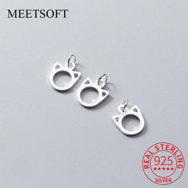 meetsoft-модные-подвески-в-виде-милых-кошек-из-серебра-925-пробы-2-шт-лот-специальные-изящные-ювелирные-изделия-ручной-работы-«сделай-сам»