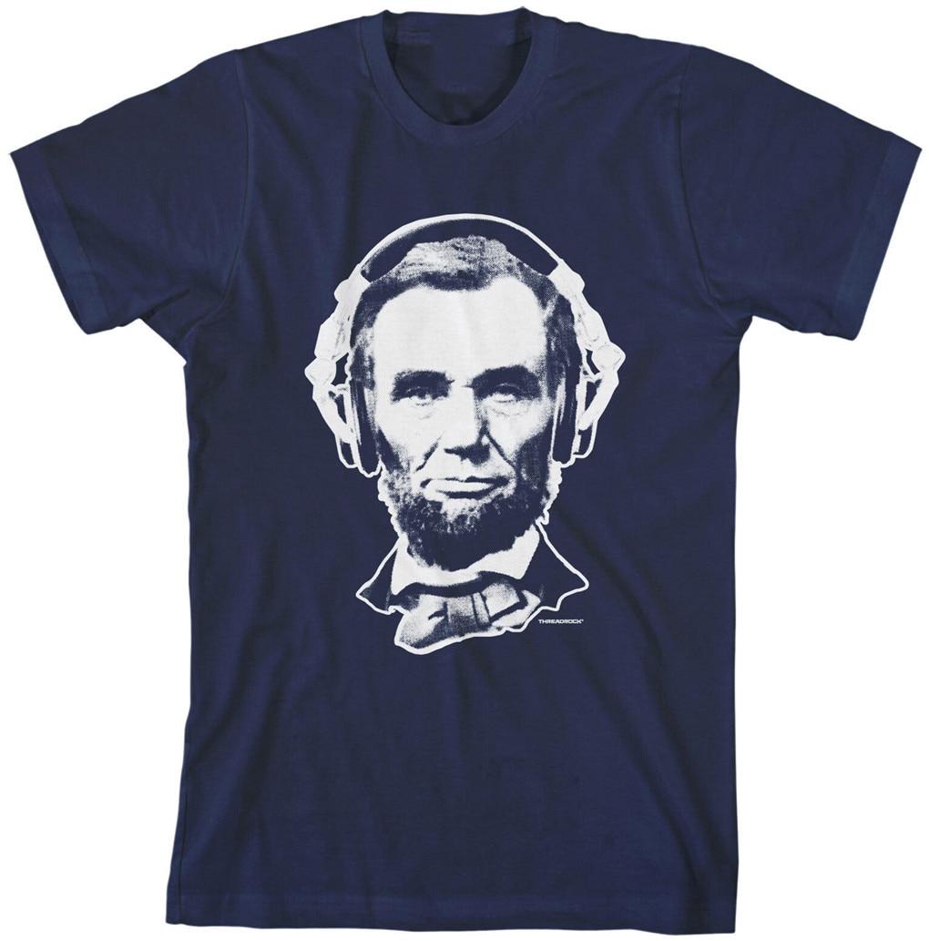 Casque homme Abraham Lincoln T-Shirt honnête Abe Cool patriotique T-Shirt Vintage col rond