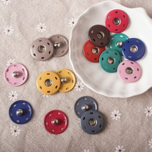 10pcs 8mm-25mm Gemengde kleur Knoppen Metalen Naaien Craft Kleding Gesp Knoppen Jas Onzichtbare Gespen Snap fastener