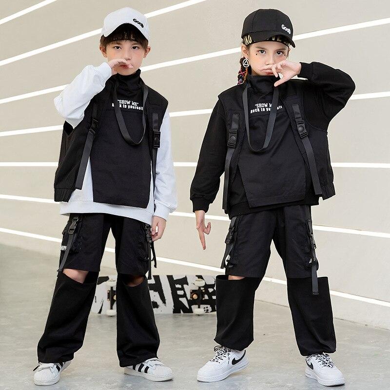 Sudadera de hip hop para niño pantalones de camuflaje táctico desgarro del...