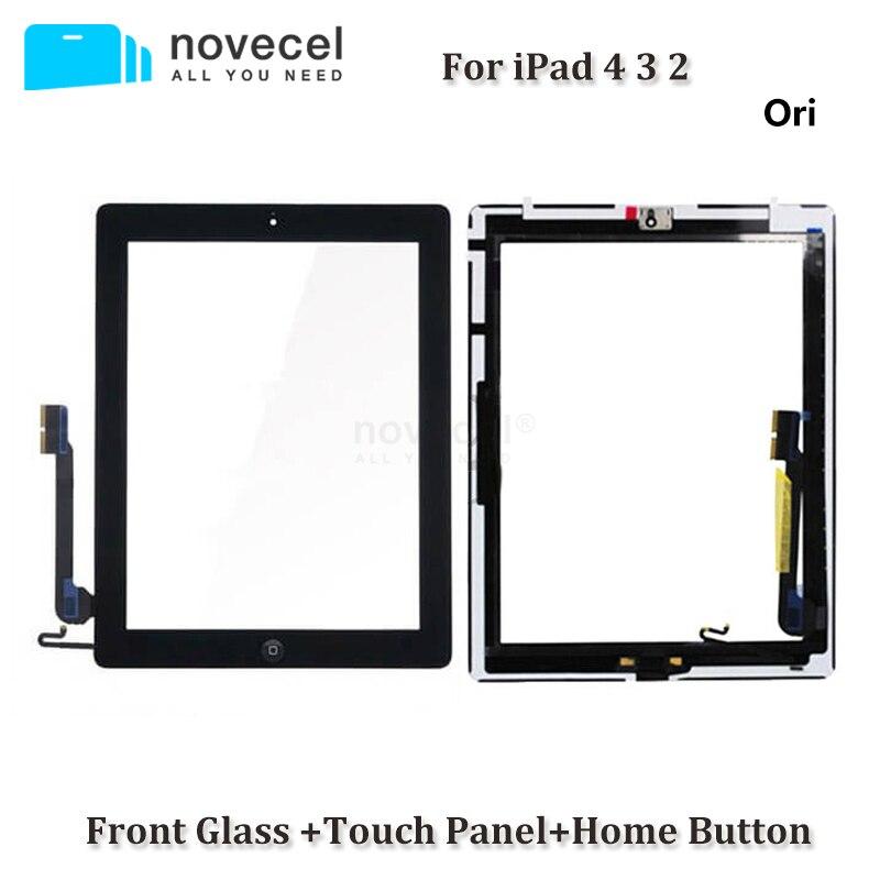 Pantalla táctil para iPad 3, 4, 2, A1416, A1430, A1403, A1458, A1459, A1460, A1395, A1396, A1397, Panel de cristal con Sensor digitalizador con botón de inicio
