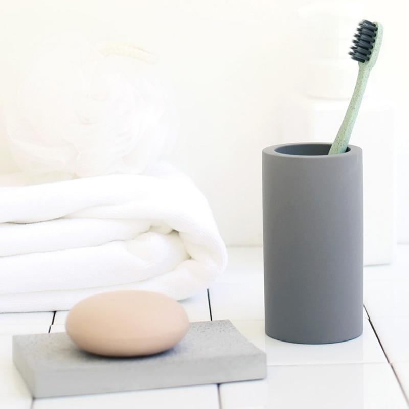 Набор для зубной щетки Diatomite, серый/темно-серый светильник для ванной комнаты