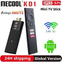 Original Mecool KD1 TV Stick Amlogic S905Y2 Smart TV Box Android 10 2GB 16GB Google Certified 1080P