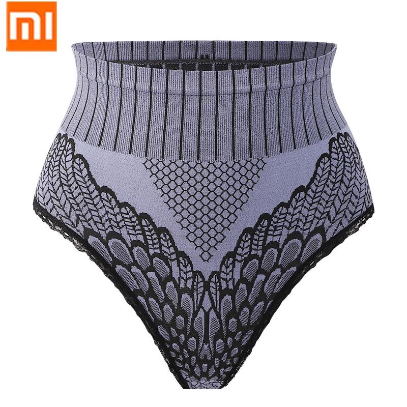 Xiaomi mijia-bragas antibacterianas de grafeno para mujer, ropa interior de talla grande con encaje de elevación de cadera y abdomen de cintura alta, pantalones cálidos de palacio