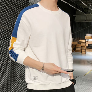 [Spring Low-Cost Running] Sweater Men's Long-Sleeved T-shirt Men's Student Loose Fashion T-shirt Popular Brand Bottoming Shirt