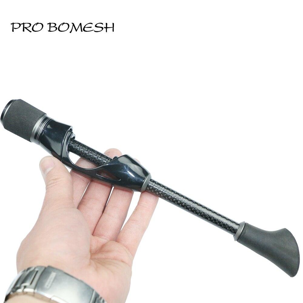 Pro bomesh 1 conjunto 46.5g 50g molinete assento alça kit diy truta vara de pesca no gelo vara de pesca componente acessório