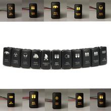 Interrupteur de lumière pour voiture 12V cc   Voiture de 12V, interrupteur de lumière allumé/Off pour Toyota Landcruiser Hilux Prado