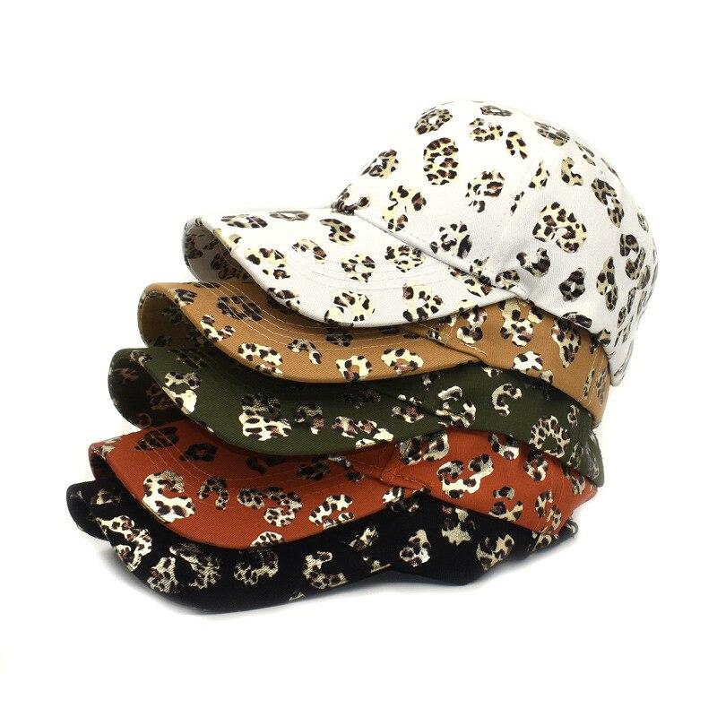 Бейсболка женская с леопардовым принтом, хлопковая кепка для активного отдыха, модная женская бейсболка с хвостом