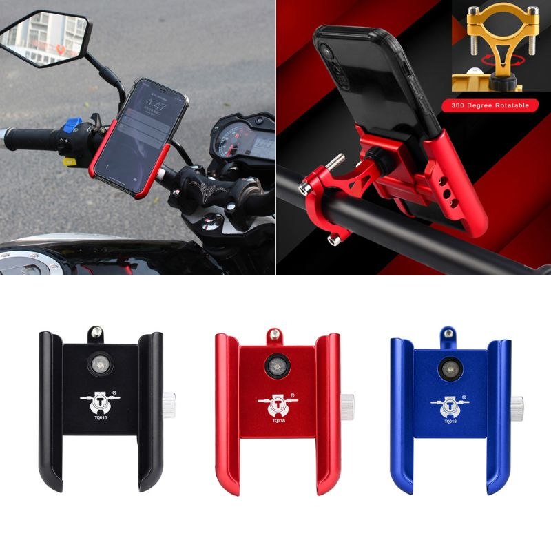 Universal 360 soporte giratorio de aluminio para manillar de motocicleta bicicleta teléfono móvil para Samsung Huawei 4-7 pulgadas Smart Mobi