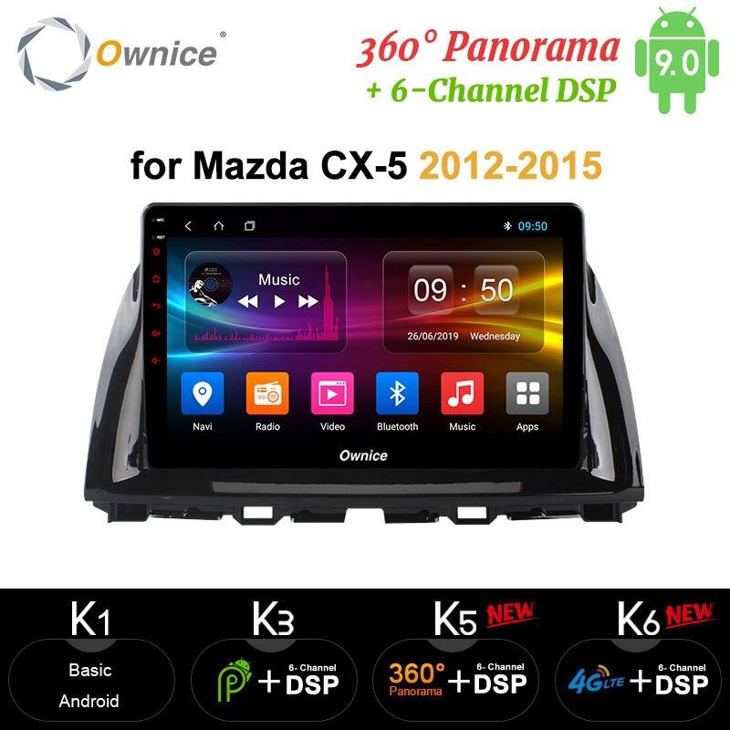 "Ownice carplay 10,1 ""Octa Core Android coche Radio GPS DVD apoyo en la red 4G LTE DAB + para Mazda CX-5 2012, 2013, 2014, 2015"