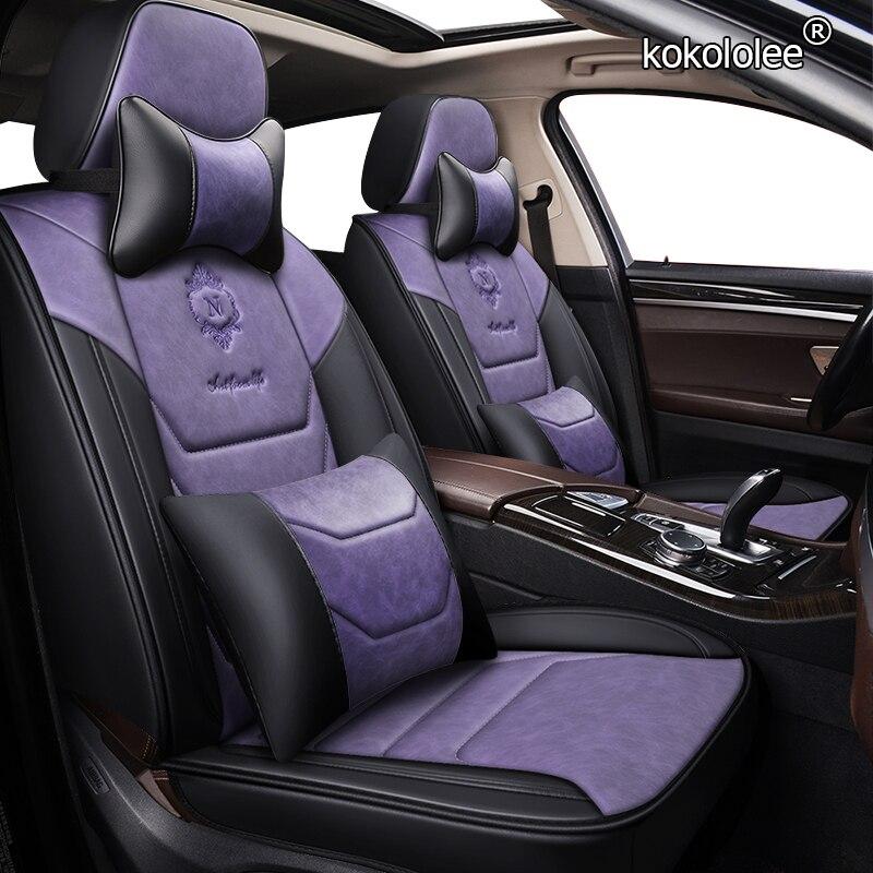 Kokolololee housse de siège de voiture en cuir pour suzuki baleno celerio liana ignis grand vitara swift 2008 wagon accessoires de voiture housses de siège