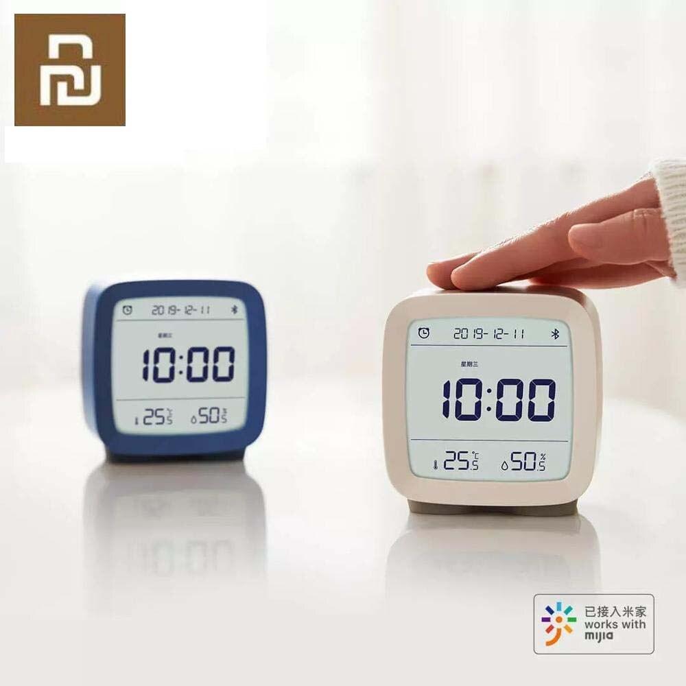 Em Estoque Xiaomi Cleargrass Alarme Relógio Bluetooth Inteligente Nightlight Controle Display de Temperatura e Umidade Tela de LCD Ajustável