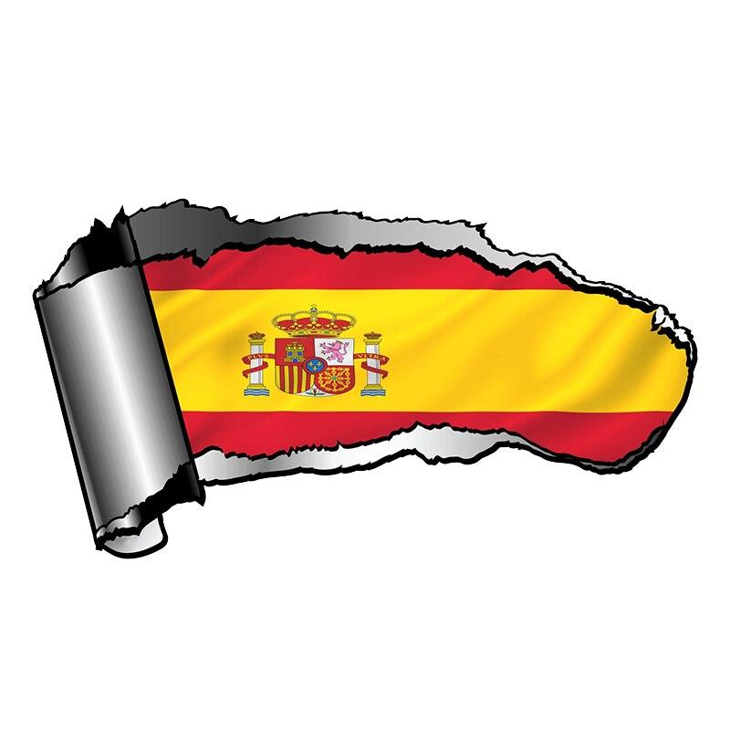 18x9 см рваные открытая рана рваные металлический дизайн с Испания испанский для малышей носки с флагами стран винил светоотражающие наклейки для автомобилей и мотоциклов, Стикеры Наклейки на автомобиль      АлиЭкспресс