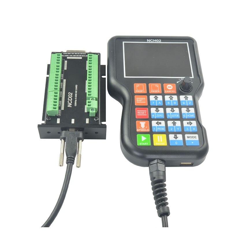 5 Axial CNC Manual Offline controlador Sistema de Control de Movimiento NCH02 para máquina de grabado TP899