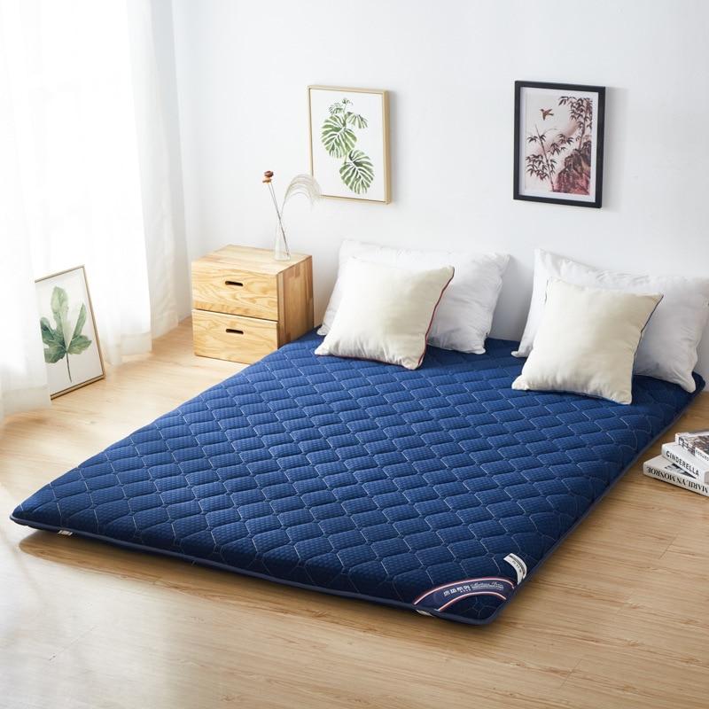 مرتبة مبطنة للأرضية من فوتون فراش لينة سميكة قابلة للطي مرتبة مريحة محمولة للتخييم سرير ضيوف للنوم