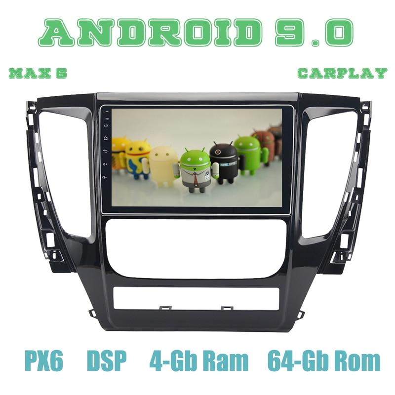 "PX6 10,2 ""Android 9,0 GPS para coche reproductor de Radio para mitsubishi pajero sport 2017, 2018 con DSP HDMI 4 + 64GB estéreo para coche Multimedia"