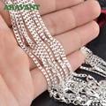 925 серебро 2 мм цепочка на шею для мужчин и женщин модные ювелирные изделия - фото