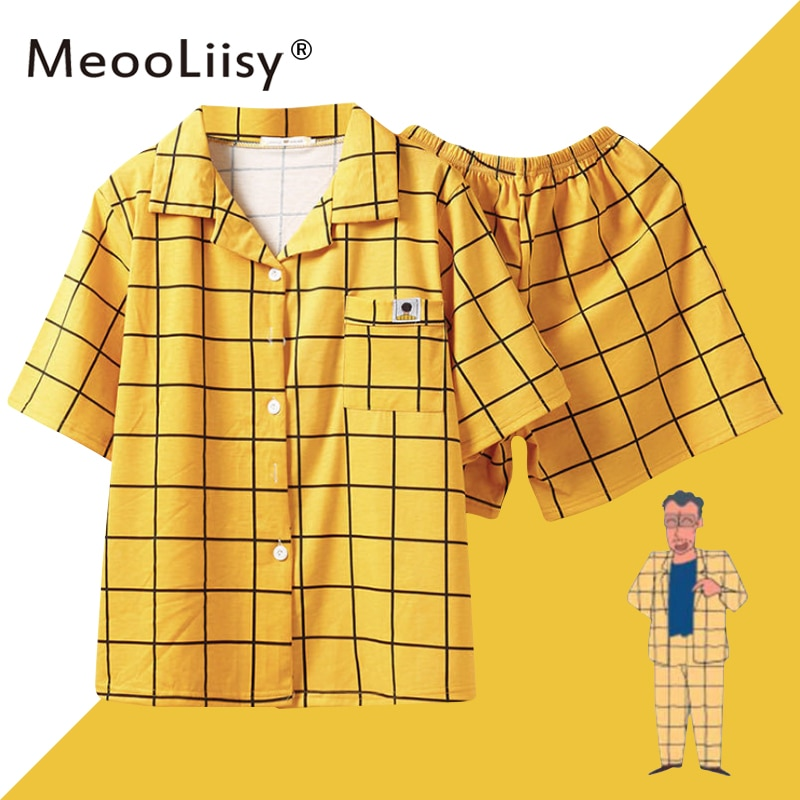 MeooLiisy Pijamas Women's Pajamas for Woman Summer Sleepwear Suits with Shorts Pajama Set Home Cloth