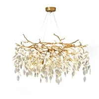 new living room round crystal chandelier modern villa lamp luxury bedroom crystal lights