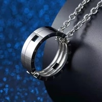 kiss fish pendants necklace deformation of titanium steel japan south korea style folding telescopic creative ring necklace