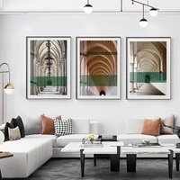 modern architectural art canvas painting posters print unique wall art pictures for living room bedroom aisle studio home decor