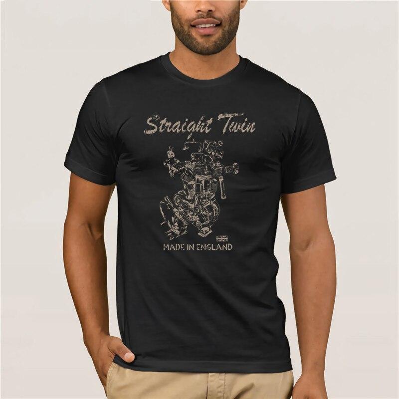 Camiseta para hombre 2019 moda Damen Straight Twin clásica americana para aficionados a la motocicleta Frauen Cafe Racer Londres Motorrad camiseta para hombre