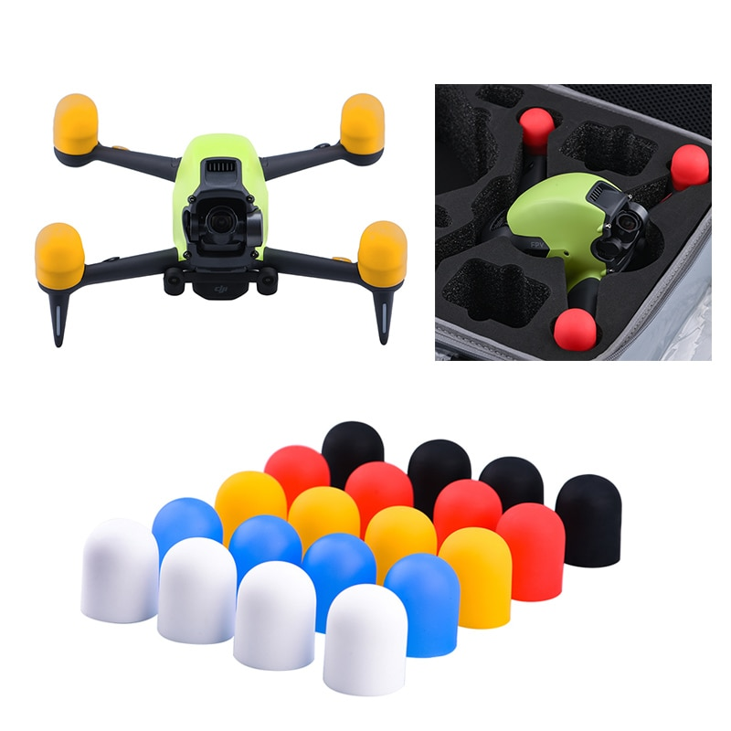 4pcs Motor Cover Cap for DJI FPV Combo Drone Accessories Engine Protective Dust-proof Cap Protector