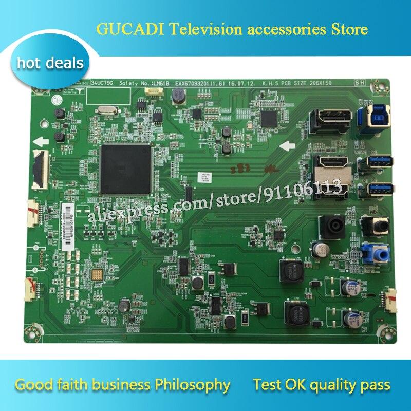 [해외] 34UC79G-B 드라이버 보드 34UC79G 마더 보드, EAX67093201 (1.6) LGM61B 좋은 작동