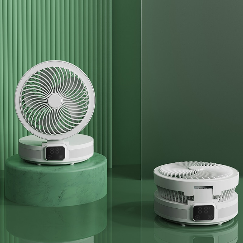 Temperature Display Fans Smart Control with APP,Portable Fan With Night Light for Home Air Conditioner Ventilador USB Gadgets
