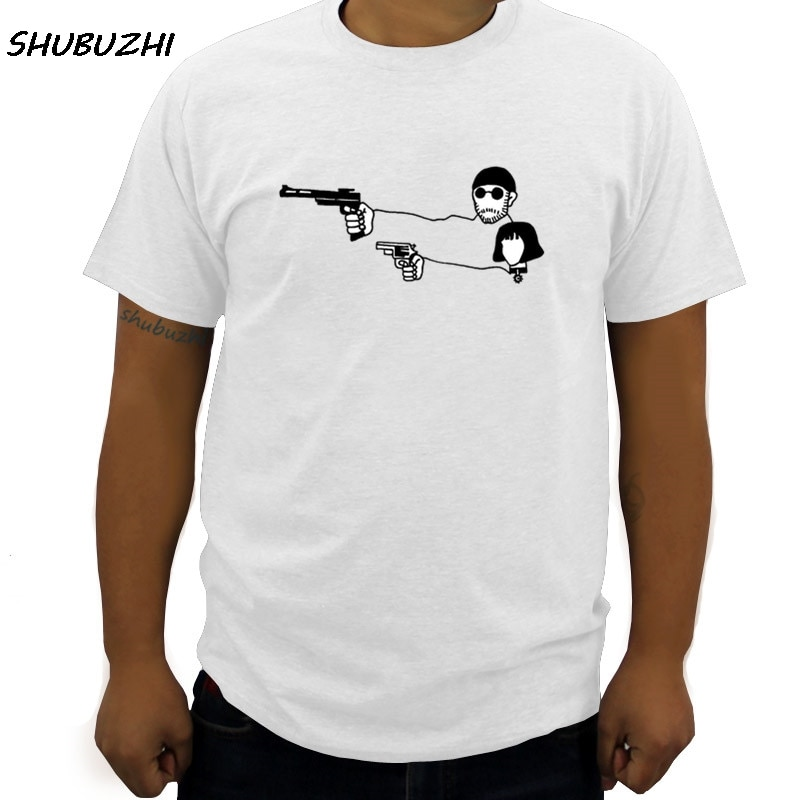 Fashion Movie Leon The Professional T Shirt Men Leon Teach Matilda Shoot Top Tees  Hip Hop Rock Cotton O Neck T-shirt big size