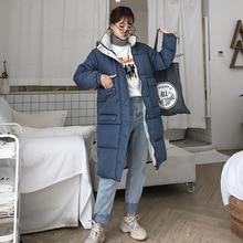 Women Winter Hooded Warm Coat Slim Cotton Padded Basic Jacket