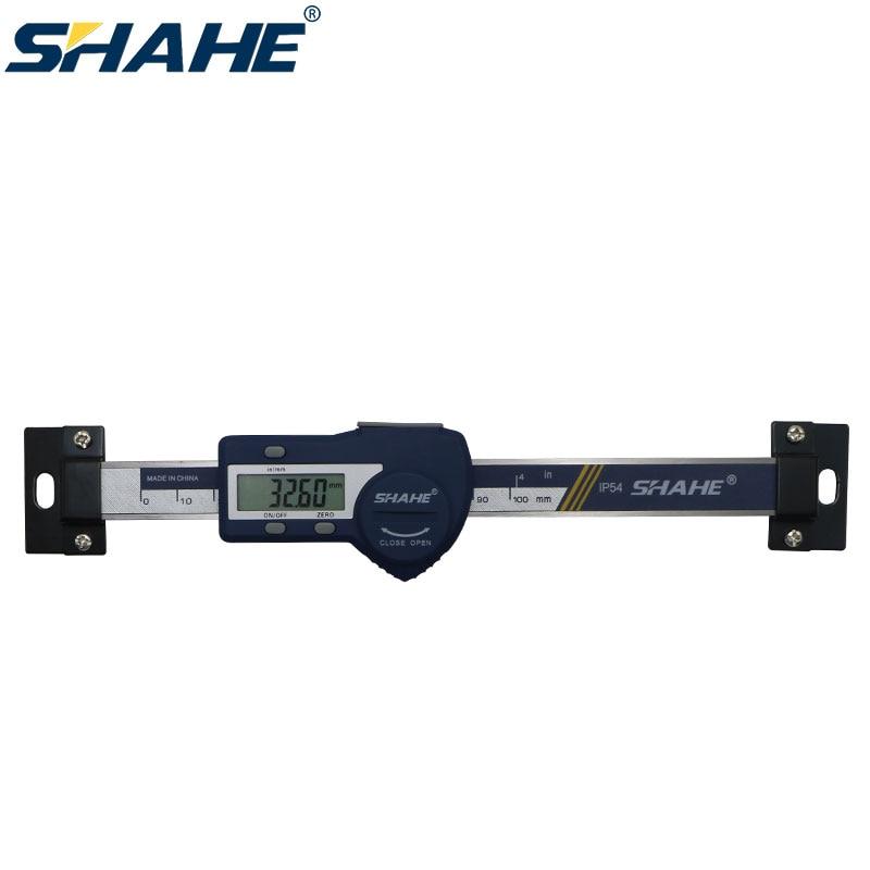 0-100 مللي متر نوع أفقي الرقمية الفولاذ المقاوم للصدأ مقياس خطي حاكم قياس أداة الخطي مقياس أفقي حاكم أدوات