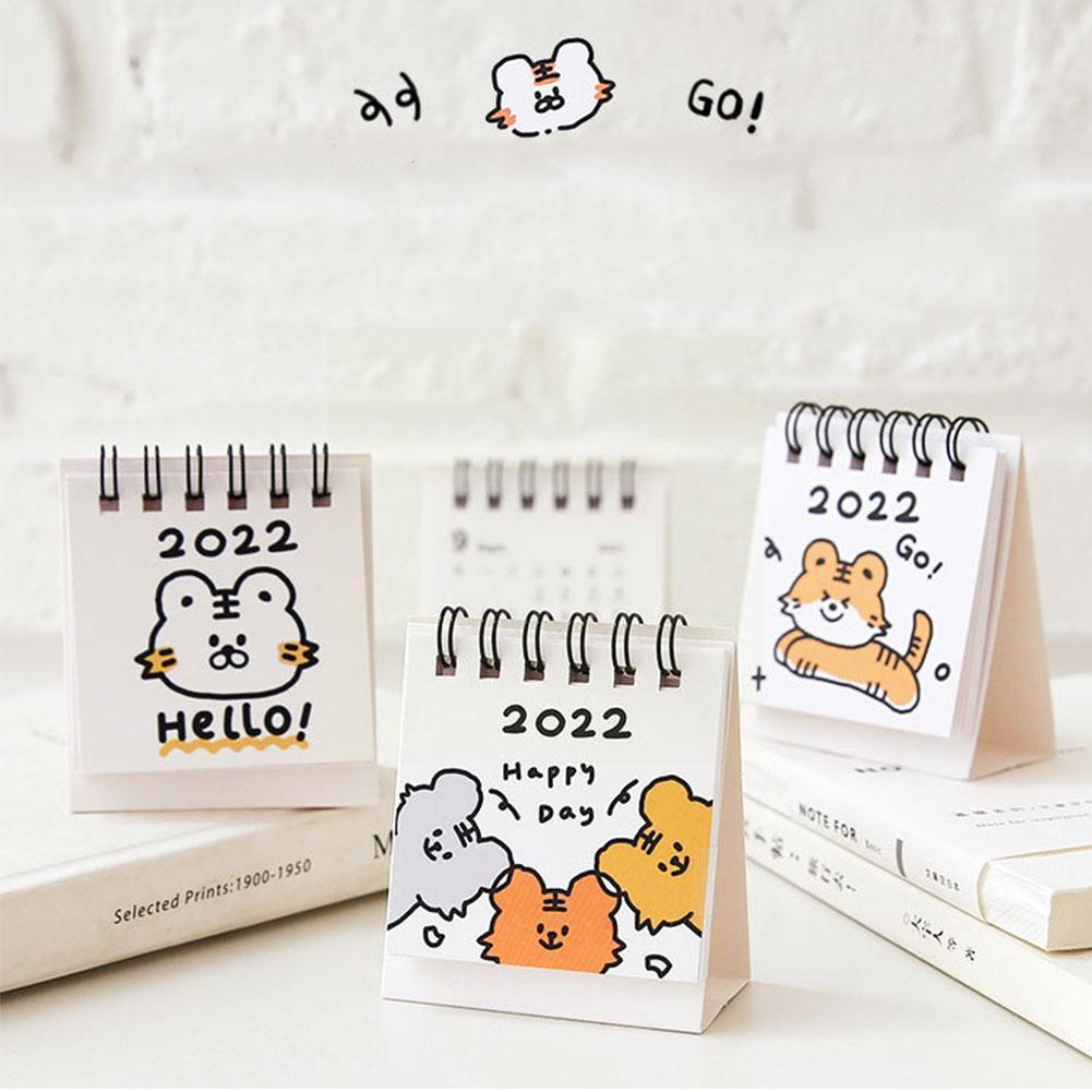 Календарь 2022, оригинальные строительные блоки с милыми животными, декоративные предметы, настольная книга для школы Cal N6A2