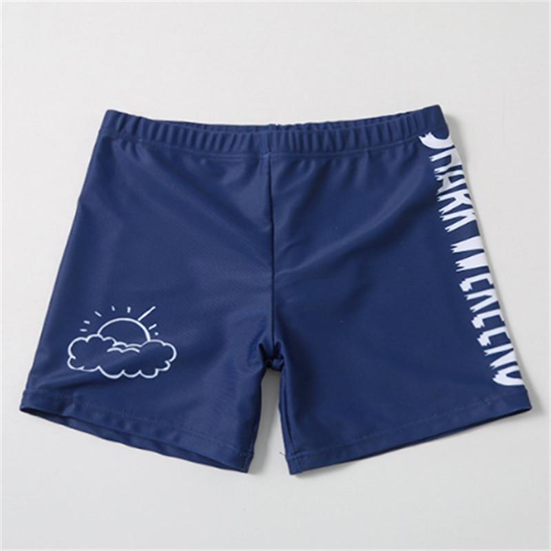 Boy Swimwear Children Graffiti Shark Swimsuit 2021 New Korean Cartoon Big Kids Cute Short-Sleeved Sunscreen Swimsuit Badeanzug