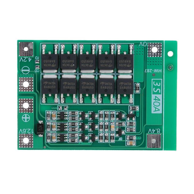 12.6 v 40a bateria de lítio 18650 carregador pcb bms placa de proteção com equilíbrio para sony vtc4, vtc4a, vtc5a, vtc6