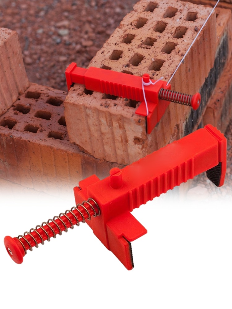 2PCS Brick Line Clips Line Runners Portable Plastic Bricklaying Fixer Construction Tools For Bricklayers To Run The Line Quickly the line