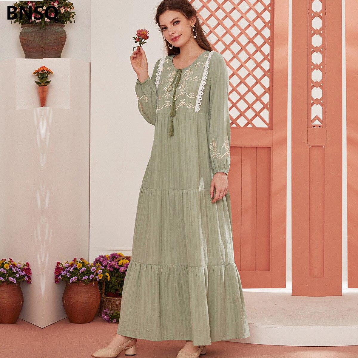 Фото - Женское длинное платье в мусульманском стиле, длинное платье в стиле Дубай, женское платье, мусульманское платье lemaire длинное платье