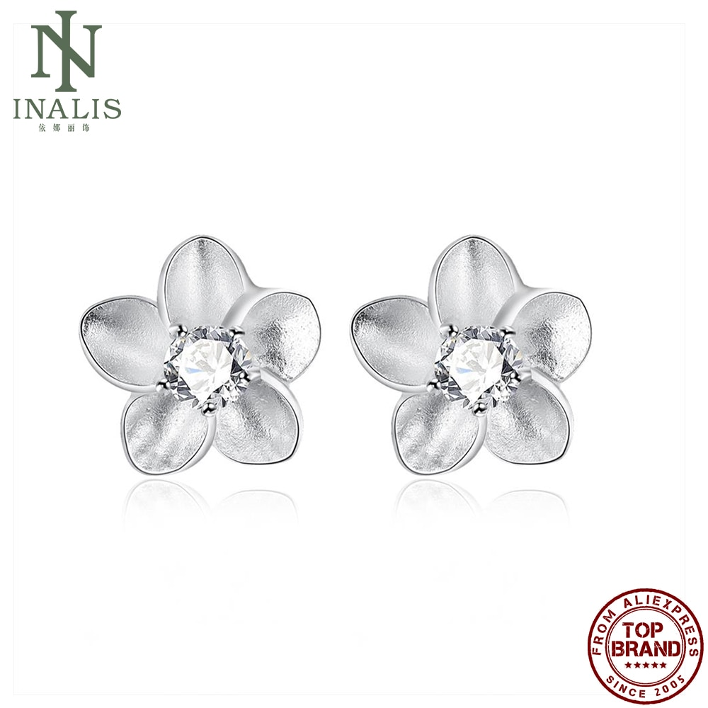 INALIS Vintage Plum Blossom Shaped Earring Silver Color Earrings For Women Fashion Jewelry Best Sell