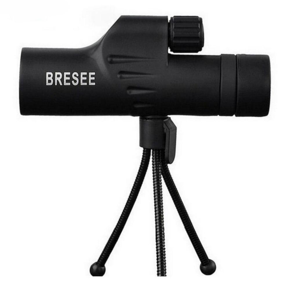 10X30 BRESEE monocular de alta potencia ocular HD película verde telescopio spotting scope película verde espejo de observación al aire libre