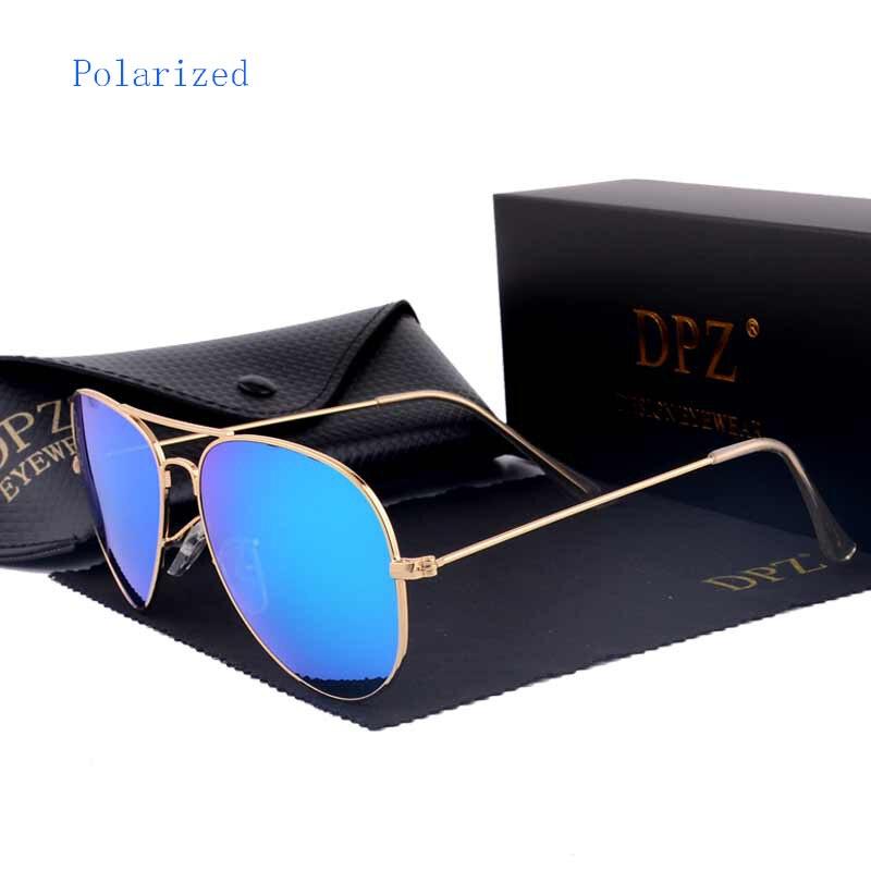 DPZ gafas de sol polarizadas aviación hombres mujeres colorido reflectante 60mm lentes accesorios rayos gafas de sol 3026