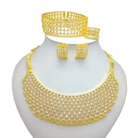 kingdom ma high quality italy gold color jewelry set for women african fashion necklcace bracelet earring ethiopian jewelry sets