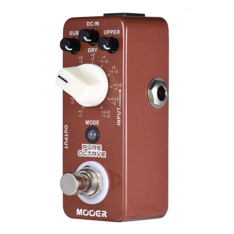Mooer Pure Octave Pedal Guitar Effect Pedal Processor for Electric Guitar Accessories Polyphonic Octave 11 Octave Modes