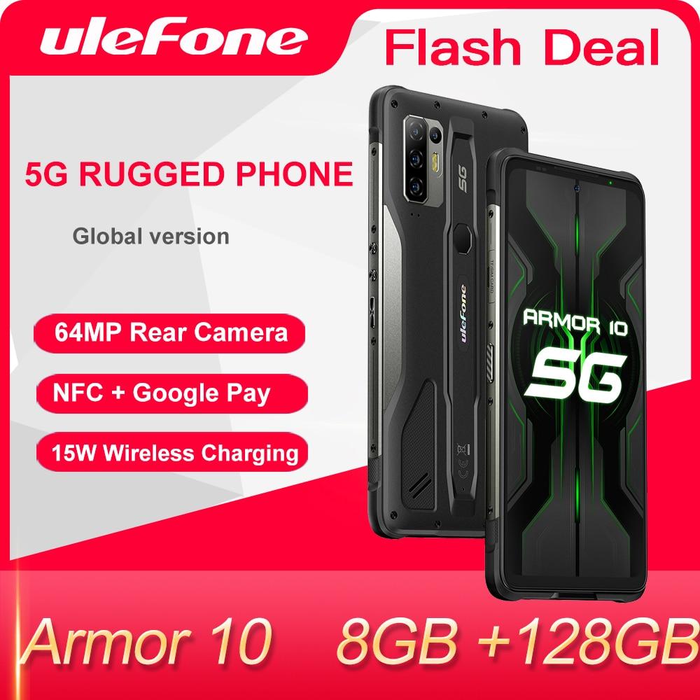 Перейти на Алиэкспресс и купить Ulefone Armor 10 5G IP68 IP69K Водонепроницаемый прочный смартфон 6,67 inch 8 ГБ 128 64MP Камера NFC Беспроводной для зарядки мобильных телефонов