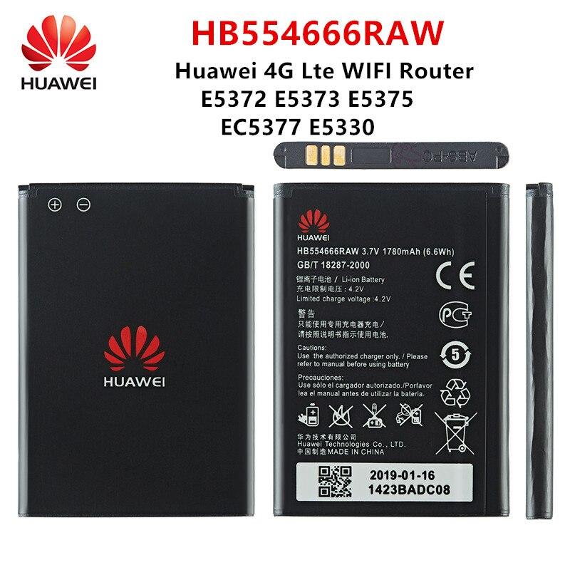 100% Orginal Huawei HB554666RAW 1780mAh Battery For HUAWEI 4G Lte WIFI Router E5372 E5373 E5375 EC5377 E5330 Batteries original huawei hb5f2h rechargeable li ion phone battery for huawei e5336 e5375 ec5377 e5373 e5330 4g lte wifi router